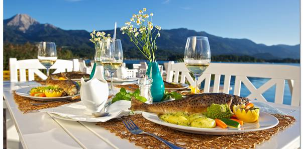 Abendessen am Faaker See