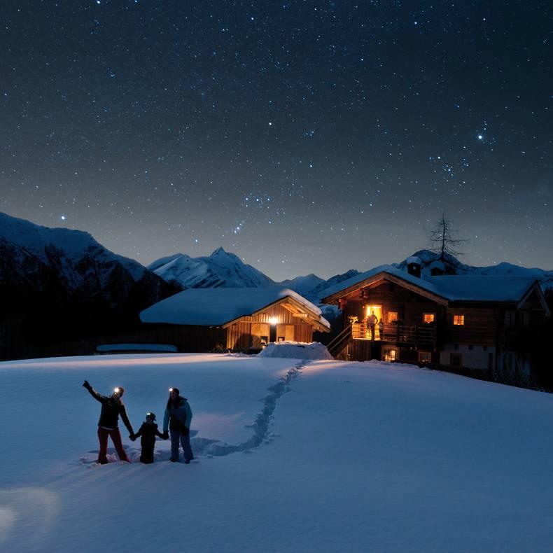 Die Nacht der Sterne im Winter in den Hohen Tauern