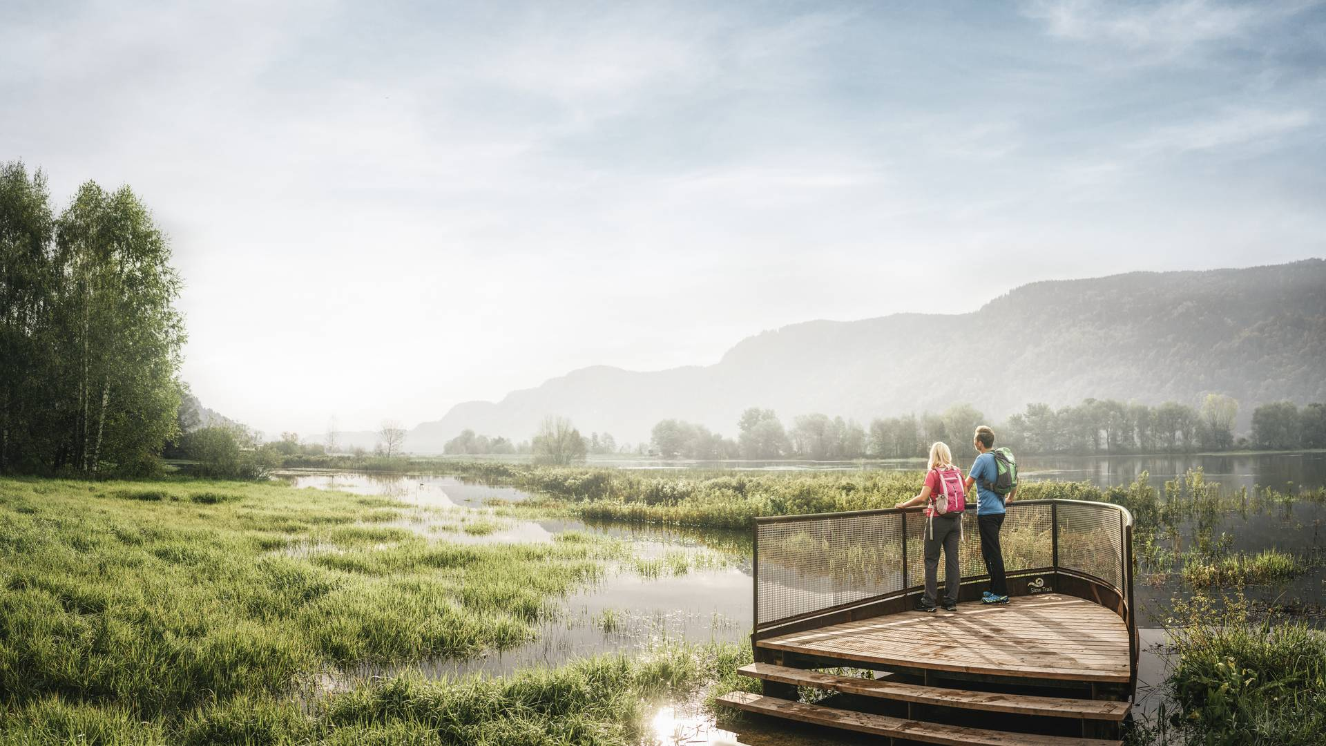 Slow Trail Bleistätter Moor Ossiacher See mit Unterstützung von Bund und EU